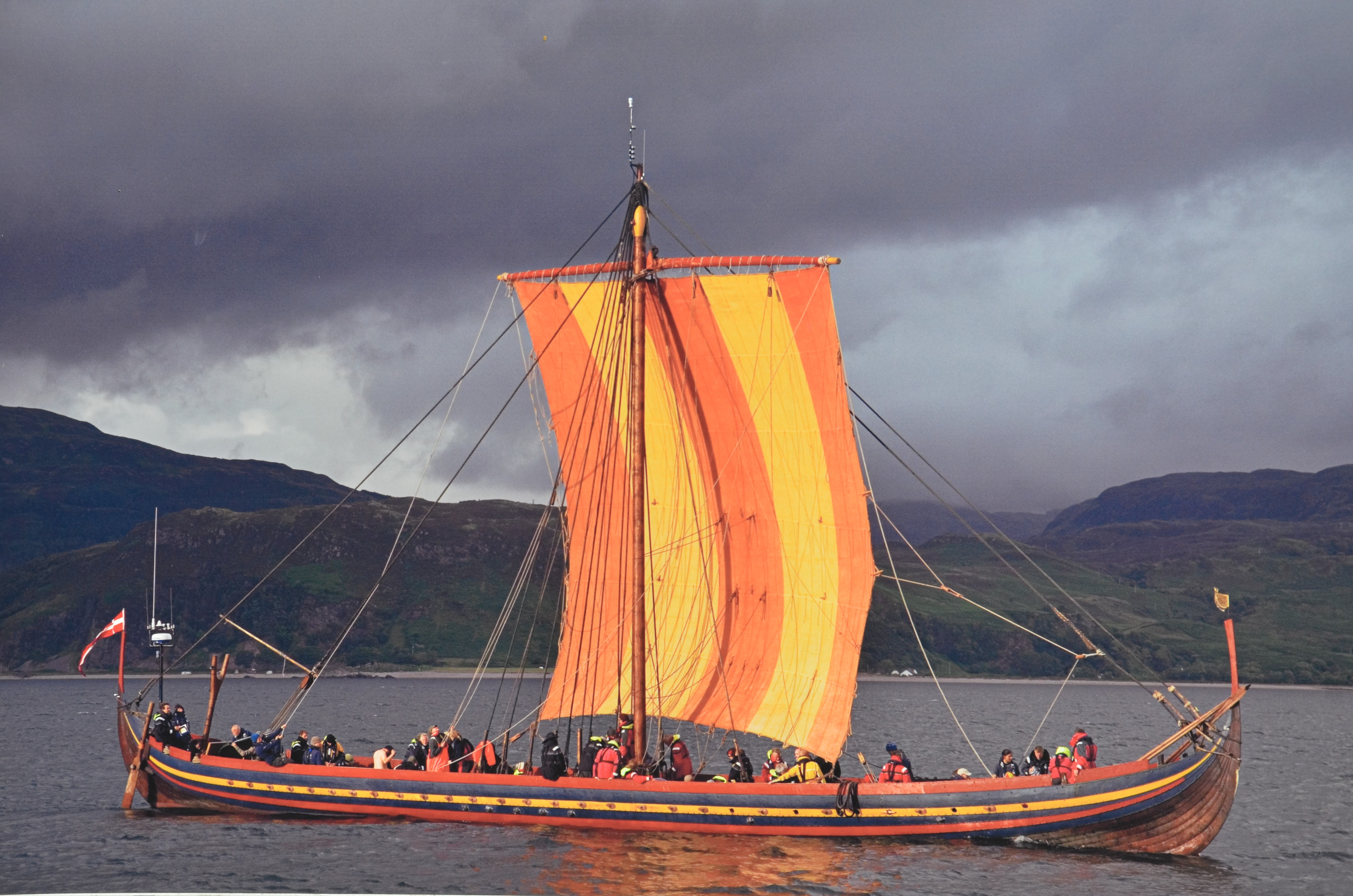 first voyage of a reconstructed Viking ship. They discovered the original remains at the bottom of the bay in Roskilde Denmark and then when they examined the tree ring data, they found out it had been made from trees growing near Dublin. So they made a reconstruction to sail back to Ireland