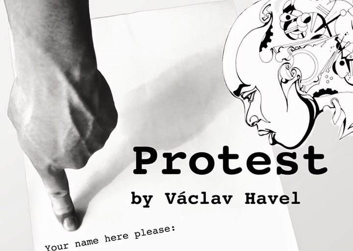 "Cover of Havel's play, ""Protest"""