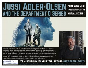 Jussi Adler-Olsen and the Department Q Series. Talk by a famous Danish Author. @ Virtual Talk